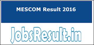 MESCOM Result 2016