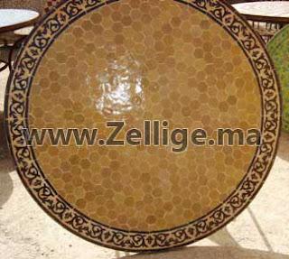 Des Tables En Zellige Marocain Du Fes Ronde Tables En Zellige