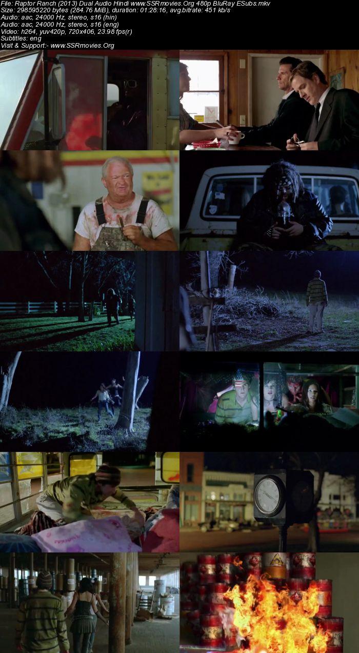 Raptor Ranch (2013) Dual Audio Hindi 480p BluRay 300MB