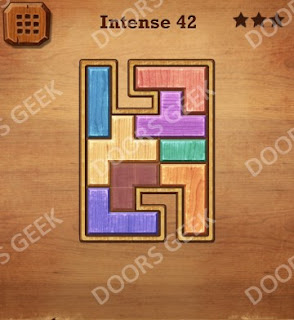 Cheats, Solutions, Walkthrough for Wood Block Puzzle Intense Level 42