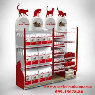 Quầy kệ bán hàng Royol-Canin