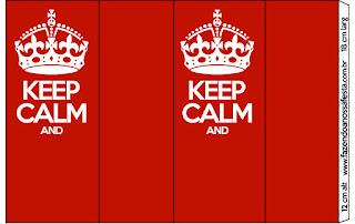 Keep Calm: Etiquetas para Candy Bar para Imprimir Gratis.