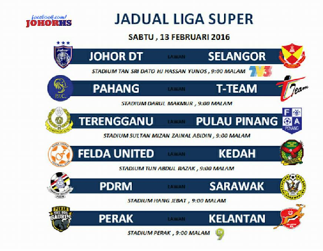 siaran langsung JDT Vs Selangor Piala Sumbangsih 13-2-2016