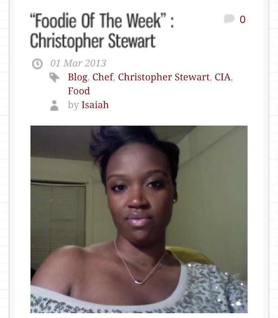 Foodie, Christopher, blog
