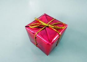A gift wrapped up.