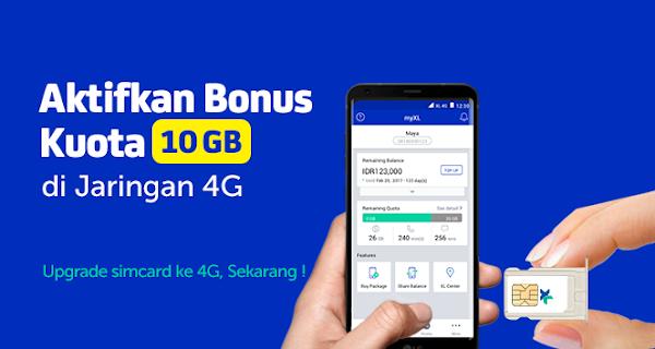 Cara Upgrade Kartu XL 3G ke 4G Tanpa Ganti Kartu