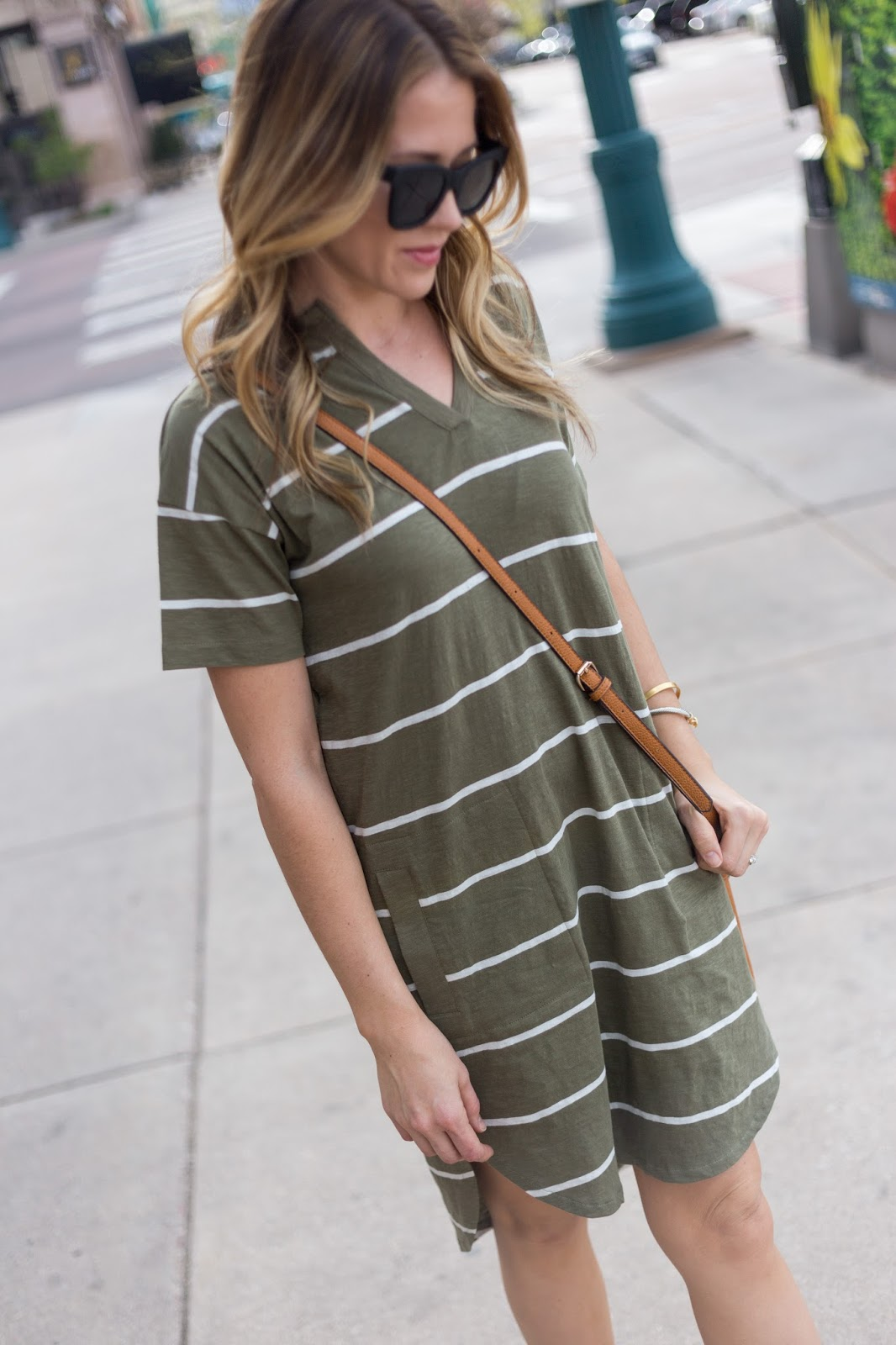 Such a great shirt dress for summer!