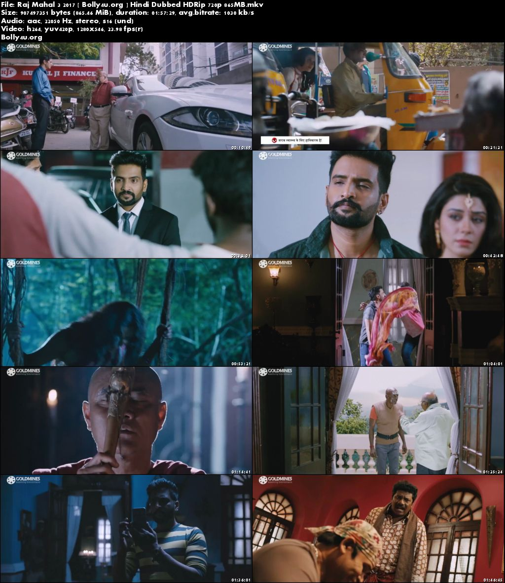 Raj Mahal 3 2017 HDRip 300Mb Hindi Dubbed 480p Download