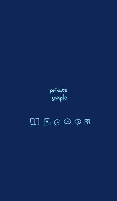 Private simple -midnight blue-