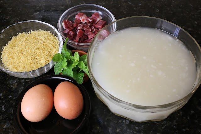 Ingredientes para sopa de picadillo
