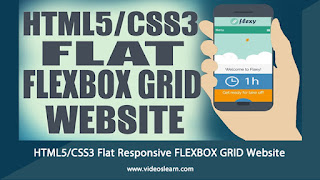 HTML5/CSS3 Flat Responsive FLEXBOX GRID Website - Start To Finish Web Design Tutorial