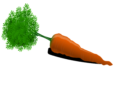 clipart wortel berdaun gratis