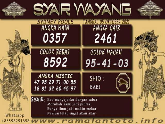 Syair sdy 05 Oktober 2021