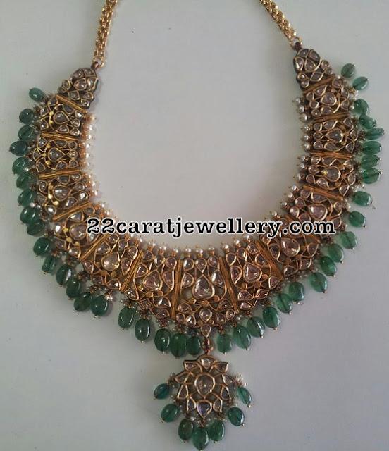 Traditional Style Uncut Diamond Set