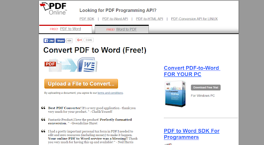 Cum transformi un document PDF intr-un document WORD - online