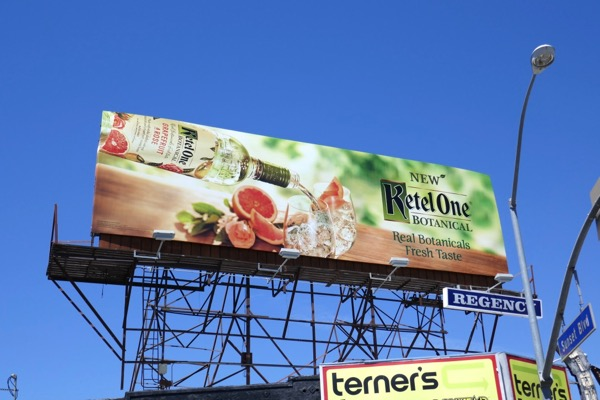 Ketel One Botanical vodka billboard