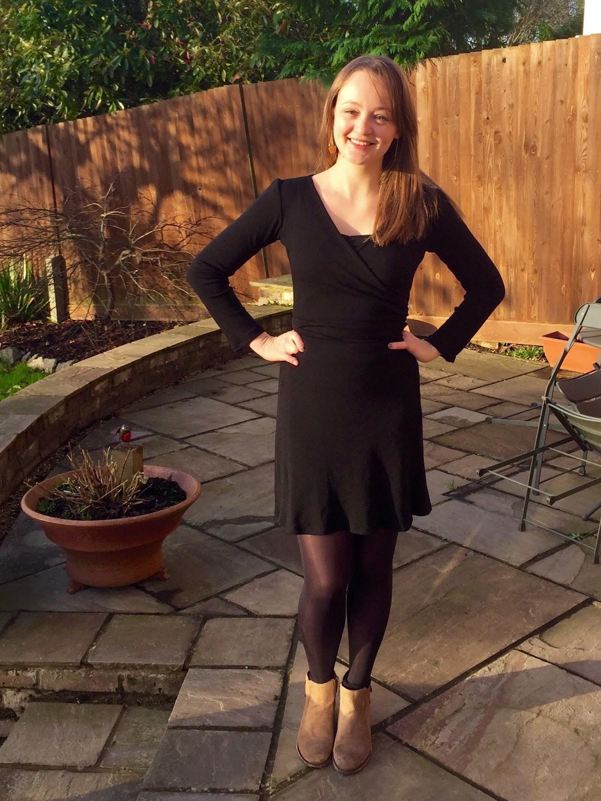 59721a2c149908 Merino Wool Ultimate Wrap Dress | Diary of a Chain Stitcher | Bloglovin'