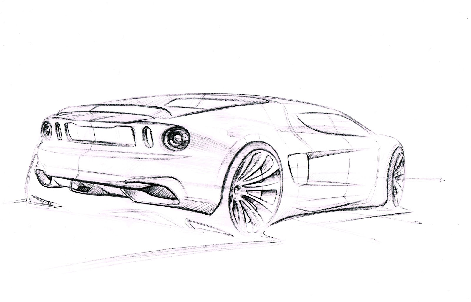 Dongsung Choi Ford Gt Sketches