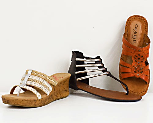 Wedge style sandals