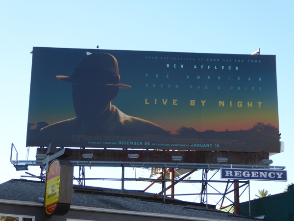 Live by Night movie teaser billboard
