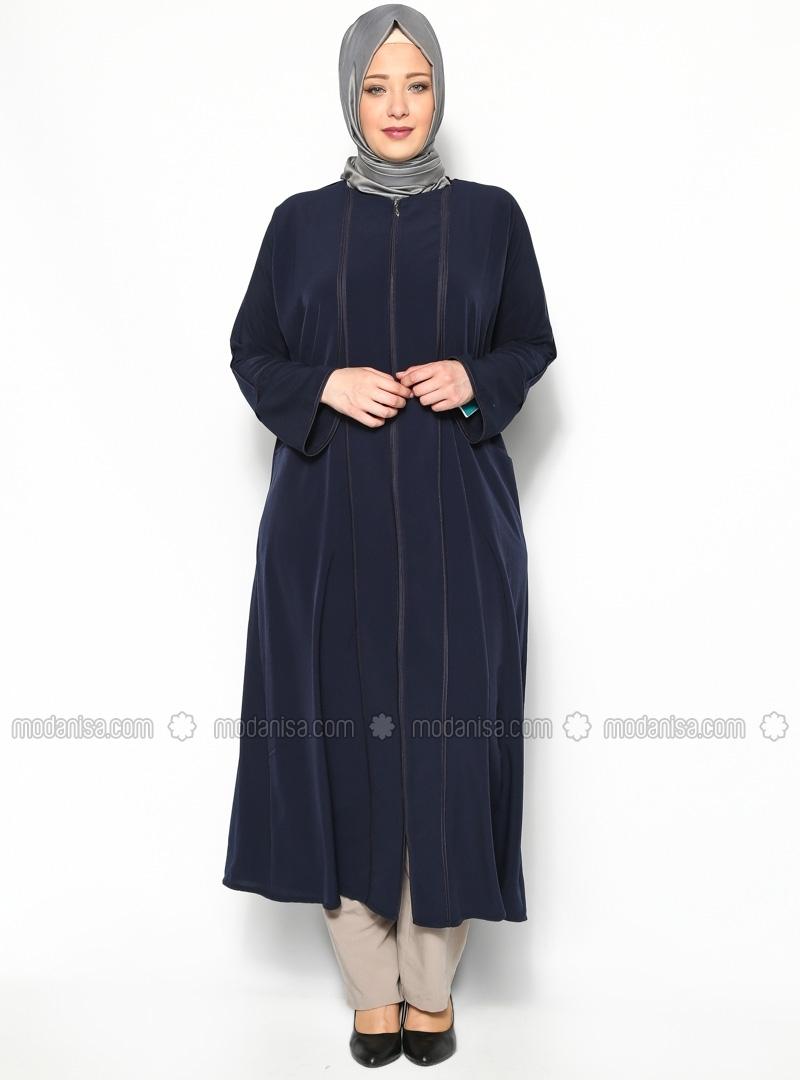 Baju Muslim Orang Tua Gemuk - Voal Motif