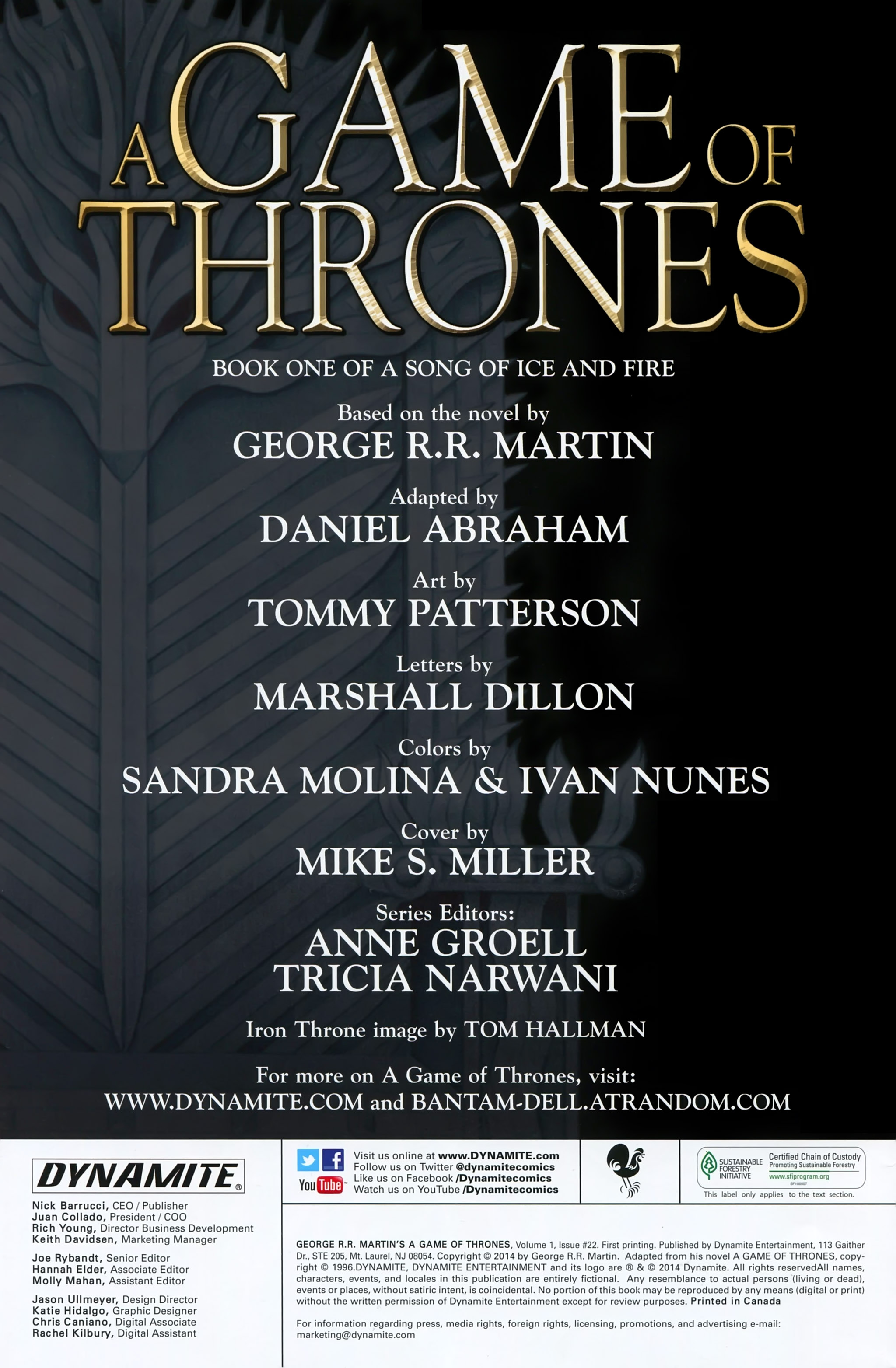 Read online A Game Of Thrones comic -  Issue #22 - 2