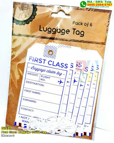 First Class Baggage Claim Tag