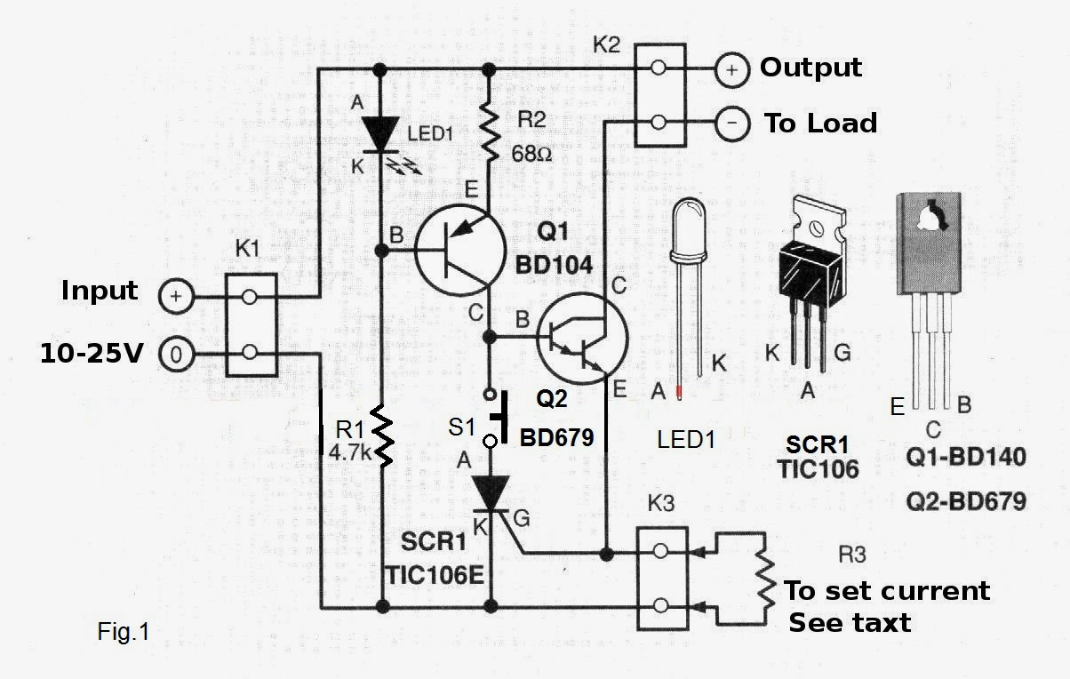 electronic fuse circuit diagram project