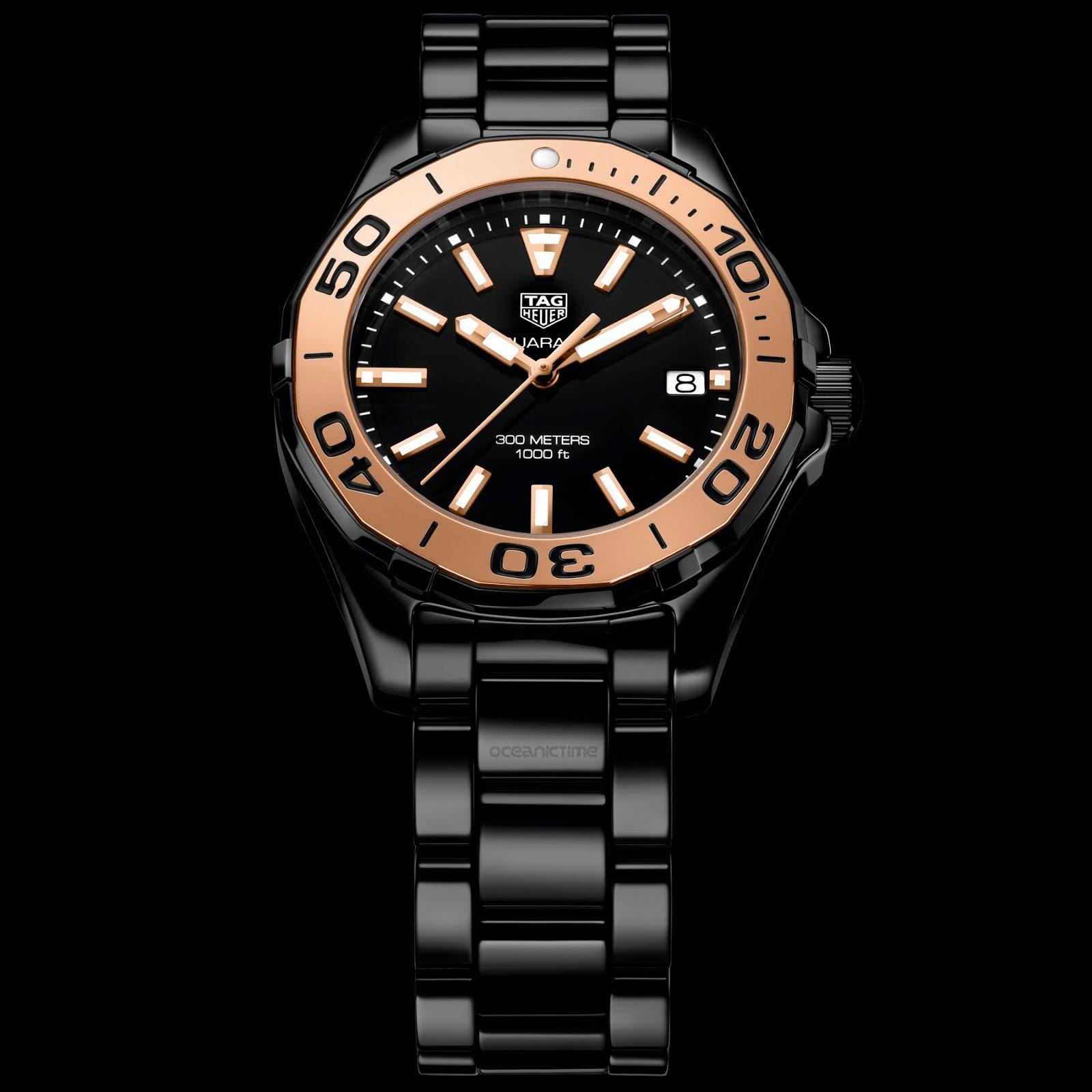 aa588a85122 OceanicTime - TAG Heuer Aquaracer LADY 300M Full Ceramic GOLD