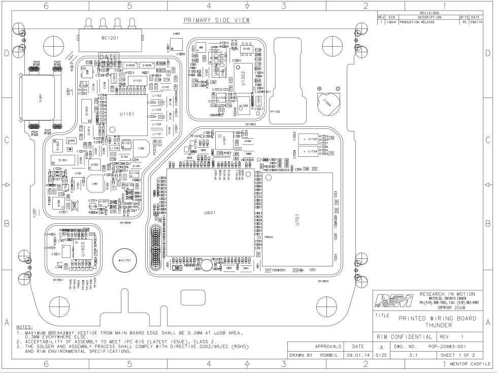 BlackBerry Storm 9530 schematics