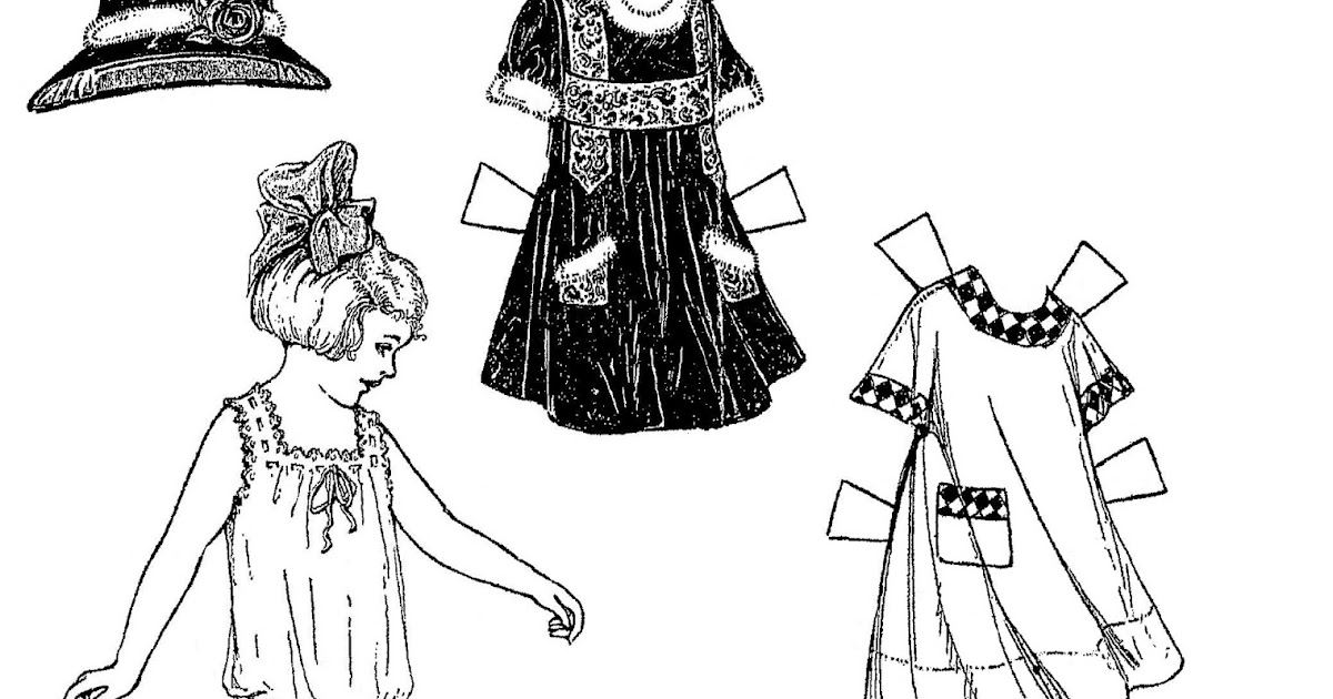 Mostly Paper Dolls Too!: A Girl With A Bow In Her Hair
