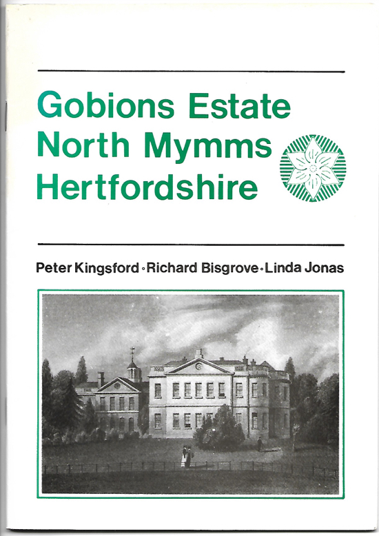 Scan of the cover for the pamphlet Gobions Estate North Mymms Hertfordshire - ISBN=0952171309