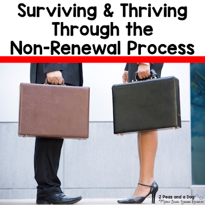 Dealing with having your teaching contract non-renewed? Take a moment to process your thoughts, then read this informative blog post about how to survive and thrive through the non-renewal process. Tips include preparing for the job application process, interview questions, and creating digital teaching portfolios from the 2 Peas and a Dog blog.
