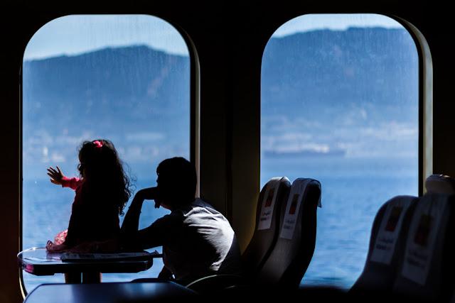 El viaje en barco hacia Ceuta