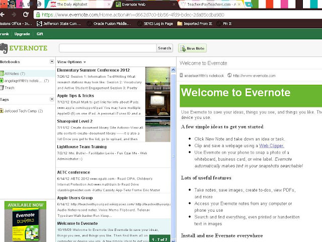 The Daily Alphabet: Oodles of Tech Tips Tuesday: Evernote