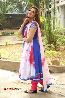 Actress Ashwini Stills in Blue Chudidar at Ameerpet Lo Release Press Meet  0227.JPG