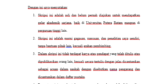 Contoh Surat Pernyataan Untuk Proposal Skripsi Mas Abas
