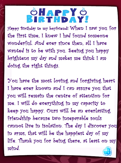 birthday letter to boyfriend a sweet happy birthday letter to my boyfriend 275