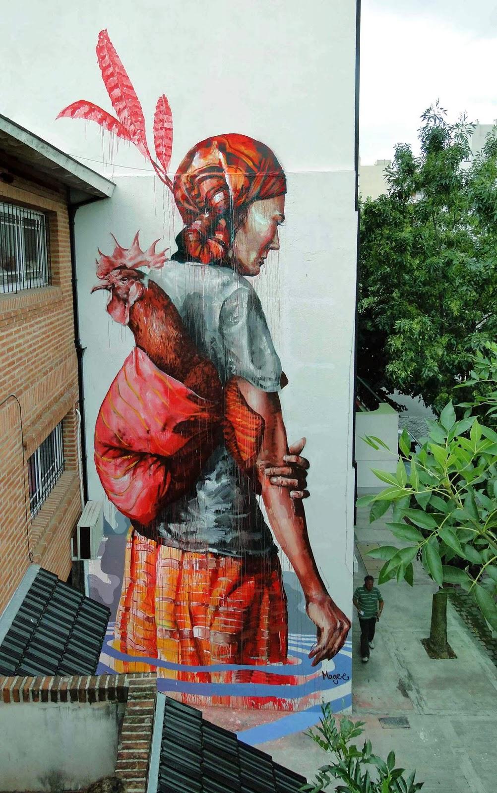 """The Displaced"" a new street art piece by Australian artist Fintan Magee. 1"