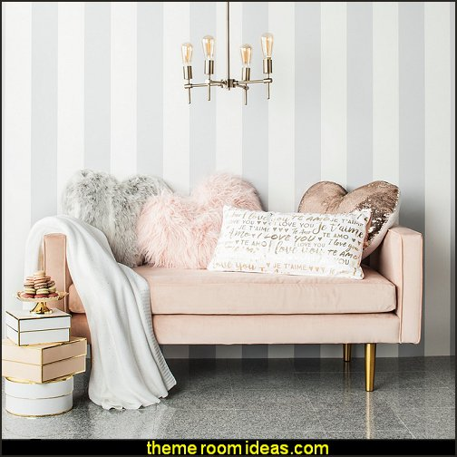 Pink Oversize Faux Fur Heart Throw Pillow
