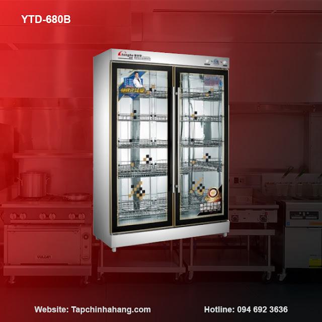 Tủ sấy bát YTD-680B 2 cánh kính