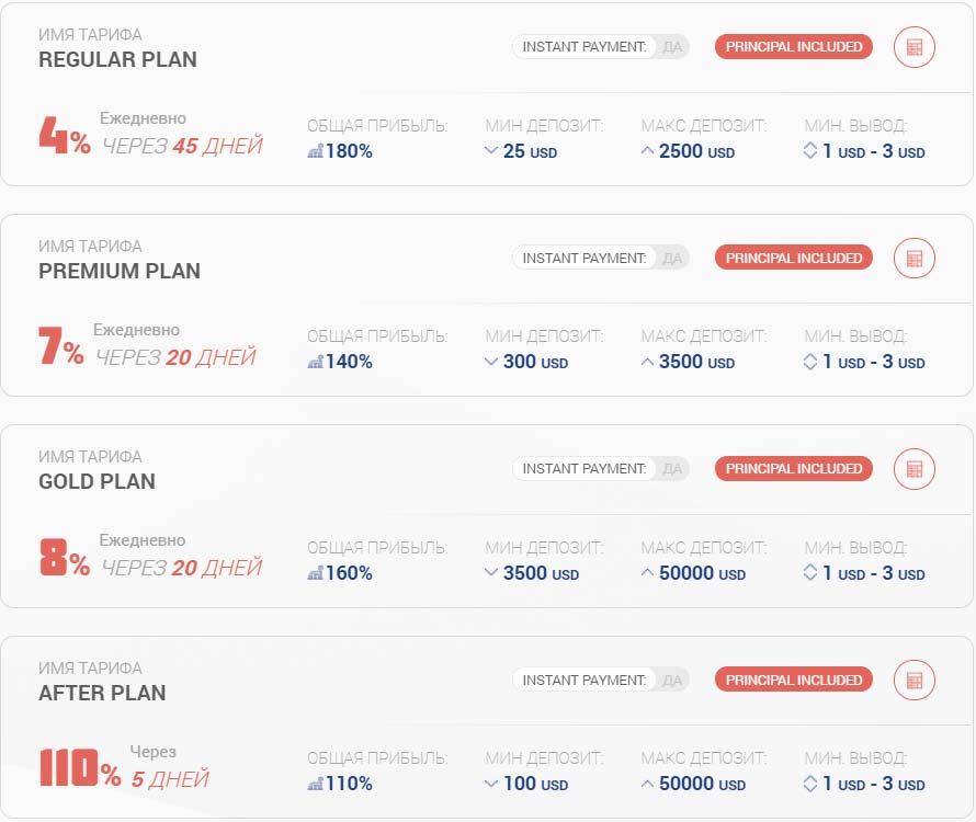 Инвестиционные планы Insta4x