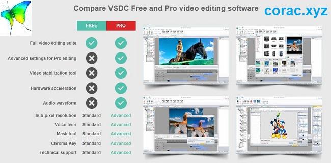 VSDC pro full vs free