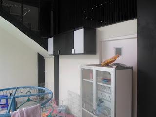 Interior Dapur Kitchen Set Warna Hitam Putih