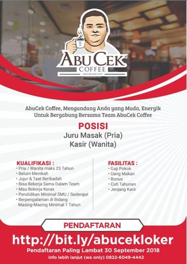Lowongan Kerja di Abucek Coffee