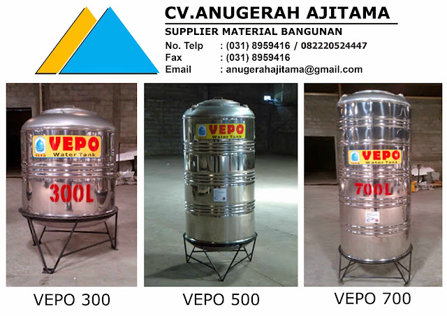 Tangki Air Stainless Steel Vepo