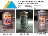 Jual Tandon Air Stainless Steel Vepo