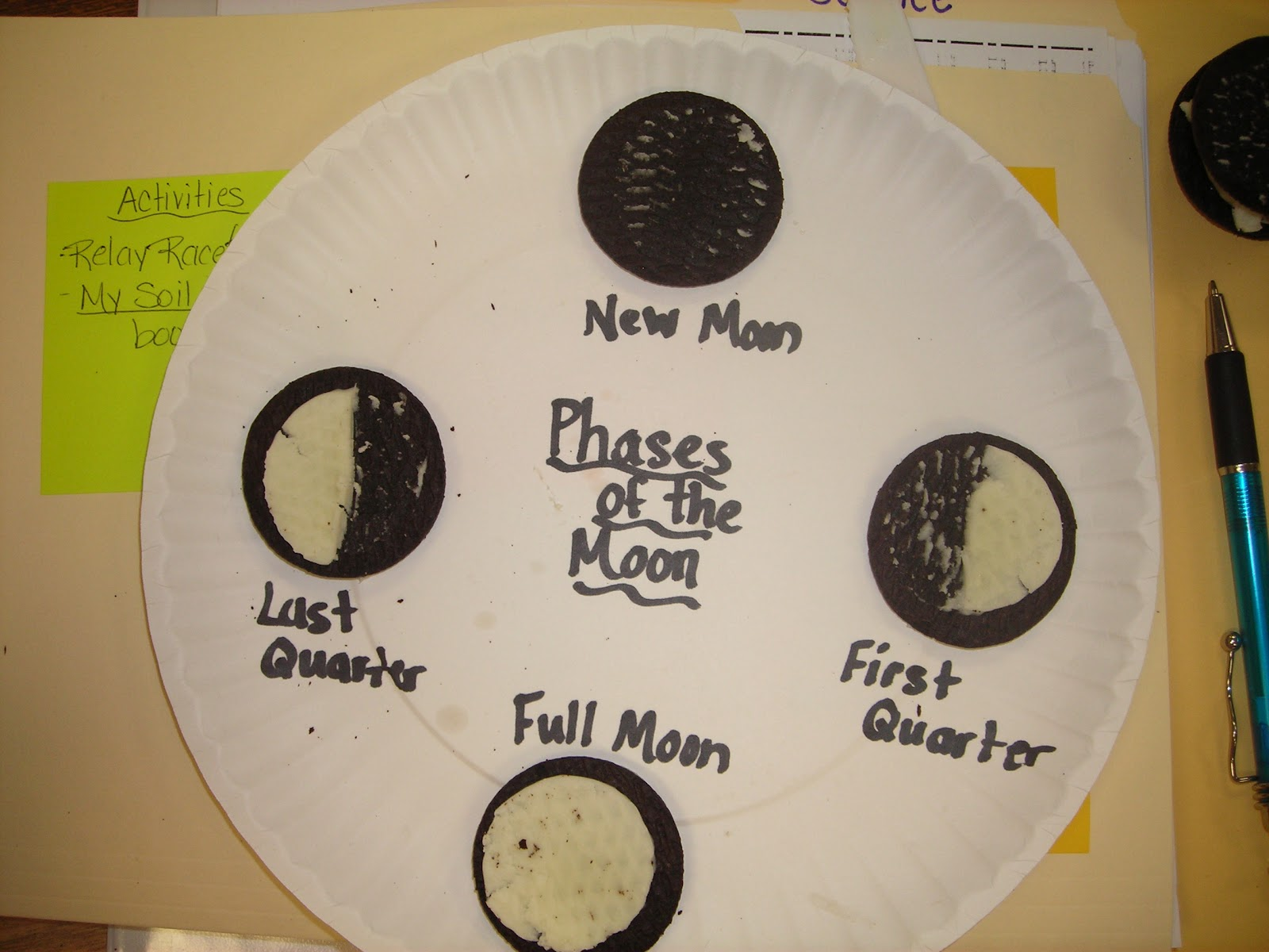 Creating Lifelong Learners Oreo Moon Phases