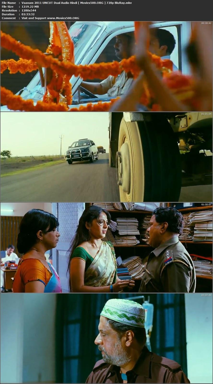 Vaanam 2011 UNCUT Dual Audio Hindi Download BluRay 720p 1GB at movies500.info