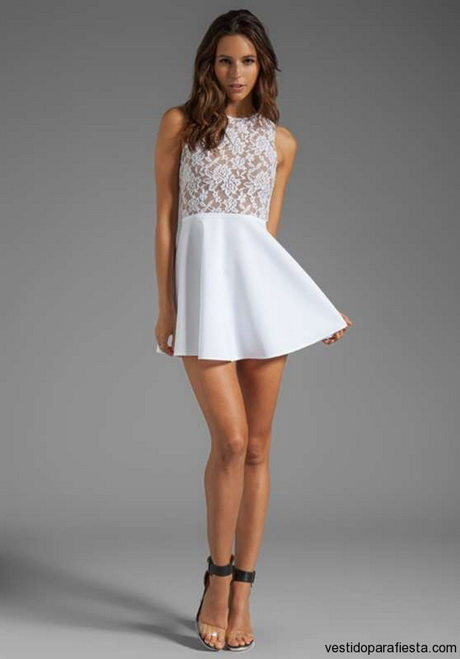 vestido de moda blanco